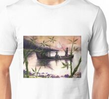 Fishing Sunset Unisex T-Shirt