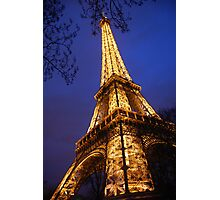 Eifel Tower at dusk Photographic Print