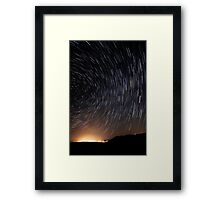 Wonder Lies Sleeping... Startrails Version Framed Print