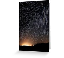 Wonder Lies Sleeping... Startrails Version Greeting Card
