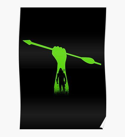Green hero Poster