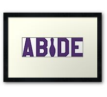 Abide - Purple Font Framed Print