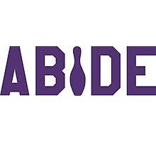 Abide - Purple Font Photographic Print