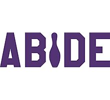 Abide - Purple Font Photographic Print
