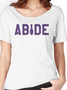Abide - Purple Font Women's Relaxed Fit T-Shirt