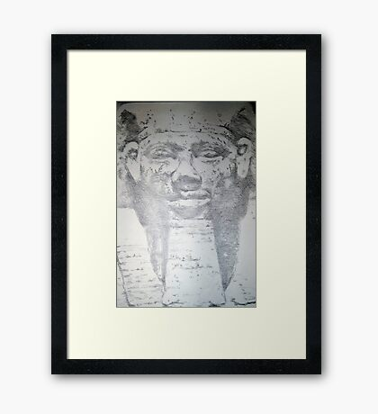 Pharoah Khafra Framed Print