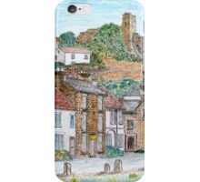 Graphite and Coloured Pencil Drawing of  Richmond, Yorkshire - all products iPhone Case/Skin