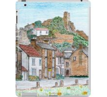 Graphite and Coloured Pencil Drawing of  Richmond, Yorkshire - all products iPad Case/Skin