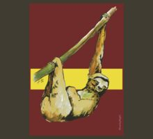Stanley the Sloth -Burgundy/Yellow by RiverbyNight