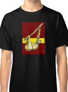 Stanley the Sloth -Burgundy/Yellow Classic T-Shirt