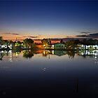 Tourlida twilight - Lagoon of Messolonghi by Hercules Milas