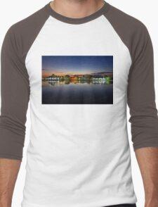 Tourlida twilight - Lagoon of Messolonghi Men's Baseball ¾ T-Shirt