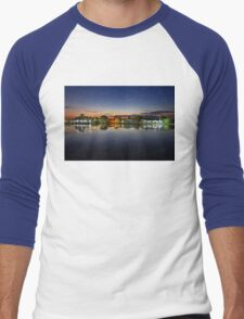 Tourlida twilight - Lagoon of Messolonghi Men's Baseball ¾ T-Shirt
