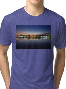 Tourlida twilight - Lagoon of Messolonghi Tri-blend T-Shirt
