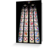 Stained-Glass Church Window in Cologne Cathedral Greeting Card