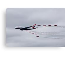 British Airways & The Red Arrows Canvas Print
