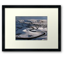 Far Down Below Framed Print