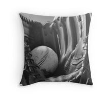 Ball and Glove Throw Pillow