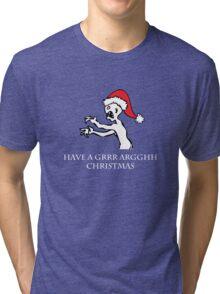 Grr Argh Christmas Tri-blend T-Shirt