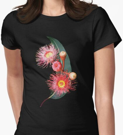 pink eucalypt Womens Fitted T-Shirt