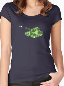 Peacekeepers (Olive dove or Olive drab) Women's Fitted Scoop T-Shirt