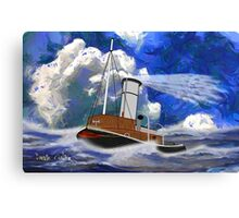 Sea going Steam Tugboat - all products bar duvet Canvas Print