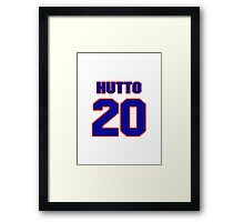 National baseball player Jim Hutto jersey 20 Framed Print