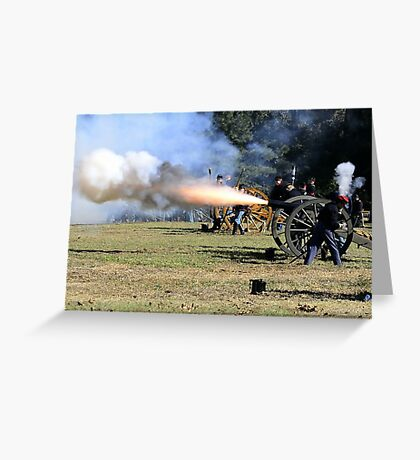Cannon Shot Greeting Card