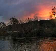Getting Close And Personal With The Sunset Soaked Hutt River by Peter Kurdulija