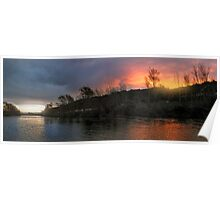 Getting Close And Personal With The Sunset Soaked Hutt River Poster