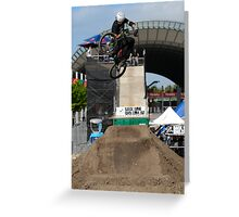 Back Bone BMX Greeting Card