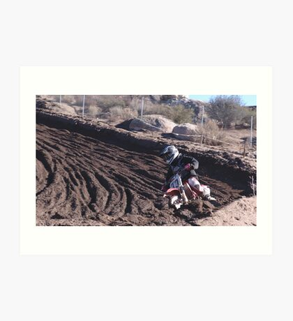Motocross - In for the ride!  Cahuilla Creek MX - Vet X Racing Series (146 Views as of 5-9-2011) Art Print