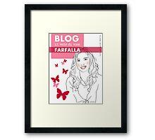 Blog il volo di una farfalla Framed Print