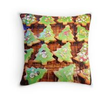Christmas Biscuits Throw Pillow