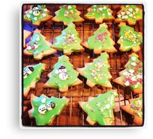 Christmas Biscuits Canvas Print