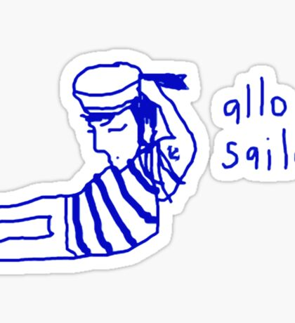 'Allo Sailor x' Sticker