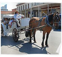 Horse-drawn carriage, Old Sac Poster