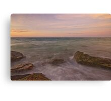 gantheaume rodcks sunset  Canvas Print