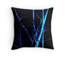 The Tree Glows at Midnight Throw Pillow