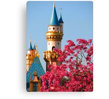 Sleeping Beauty Castle in the Spring Canvas Print