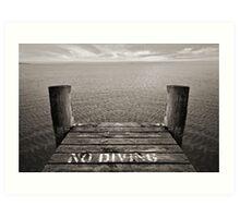 No Diving Art Print