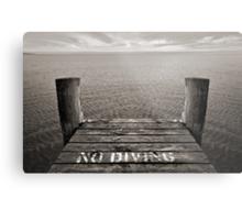 No Diving Metal Print