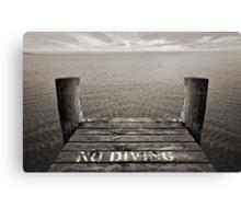 No Diving Canvas Print