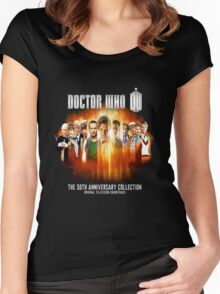 Doctor Who 50th Anniversary Women's Fitted Scoop T-Shirt