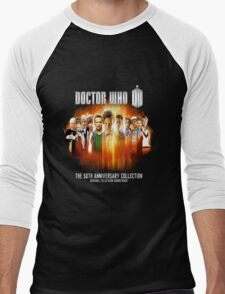 Doctor Who 50th Anniversary Men's Baseball ¾ T-Shirt