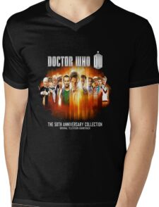 Doctor Who 50th Anniversary Mens V-Neck T-Shirt