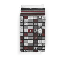 red, black and white interior design and gifts Duvet Cover