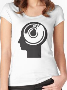 crazy idea revolving in a head Women's Fitted Scoop T-Shirt