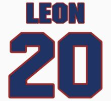National baseball player Eddie Leon jersey 20 by imsport