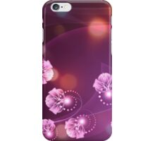 Abstract wavy purple background with floral and swirls 2 iPhone Case/Skin